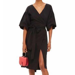 Topshop Balloon Sleeve Wrap Dress | 6